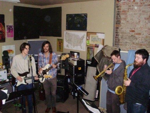 rehearsal w/ Houndmouth